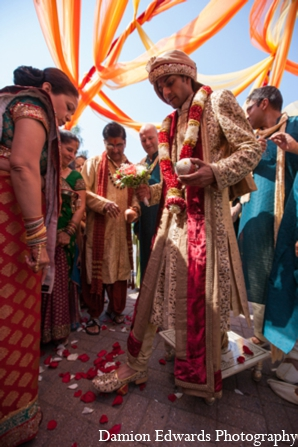 Indian wedding baraat custom in Long Island, New York Indian Wedding by Damion Edwards Photo