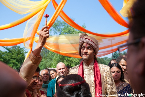 Indian wedding baraat groom in Long Island, New York Indian Wedding by Damion Edwards Photo