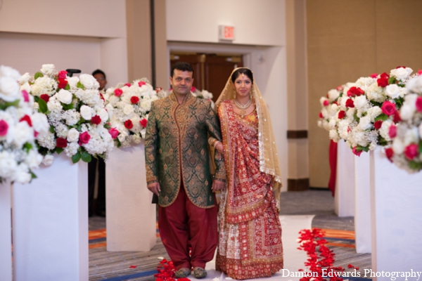 Indian wedding bridal lengha in Long Island, New York Indian Wedding by Damion Edwards Photo