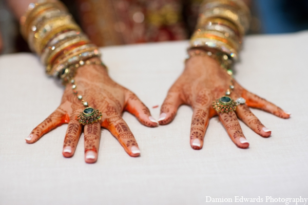 Indian wedding bridal mehndi jewelry in Long Island, New York Indian Wedding by Damion Edwards Photo