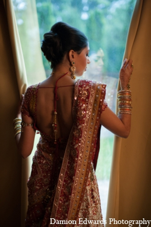 red,gold,bridal fashions,indian wedding outfits,indian wedding outfits for brides,Damion Edwards Photography