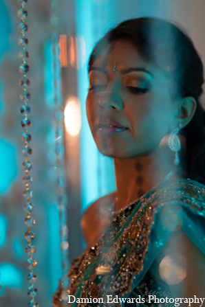 Indian wedding bridal portrait in Long Island, New York Indian Wedding by Damion Edwards Photo