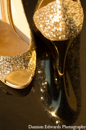 Indian wedding bridal shoes peep toe in Long Island, New York Indian Wedding by Damion Edwards Photo
