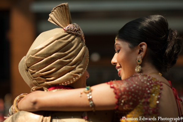 Indian wedding bride groom photo in Long Island, New York Indian Wedding by Damion Edwards Photo