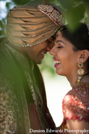 Indian wedding bride groom portraits in Long Island, New York Indian Wedding by Damion Edwards Photo