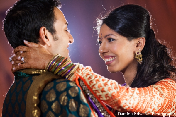 Indian wedding bride groom sangeet in Long Island, New York Indian Wedding by Damion Edwards Photo