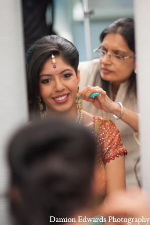 Indian wedding bride hair makeup in Long Island, New York Indian Wedding by Damion Edwards Photo