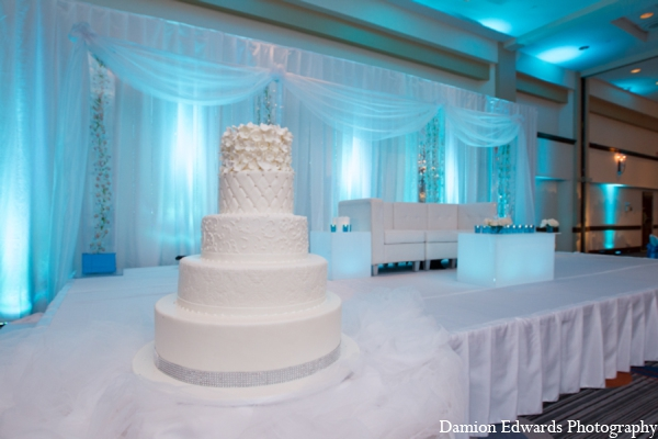 Indian wedding cake decor in Long Island, New York Indian Wedding by Damion Edwards Photo
