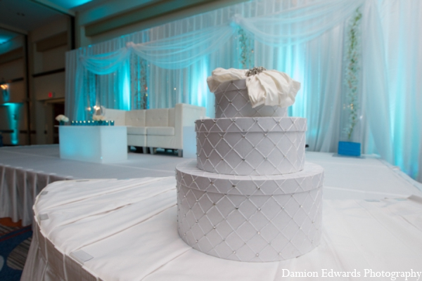 Indian wedding cake hatbox in Long Island, New York Indian Wedding by Damion Edwards Photo