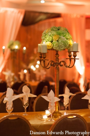 Indian wedding centerpiece floral in Long Island, New York Indian Wedding by Damion Edwards Photo
