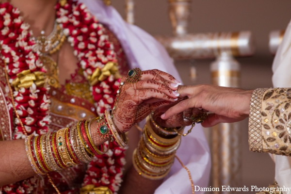 Indian wedding ceremony bridal accessories in Long Island, New York Indian Wedding by Damion Edwards Photo