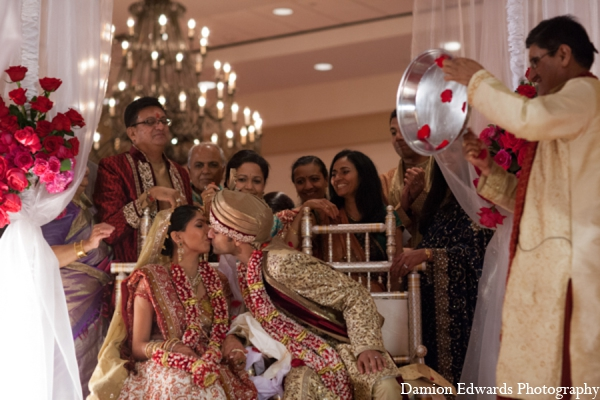 Indian wedding ceremony bride groom in Long Island, New York Indian Wedding by Damion Edwards Photo