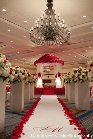 Indian wedding ceremony mandap decor in Long Island, New York Indian Wedding by Damion Edwards Photo