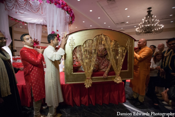 Indian wedding ceremony palanquin in Long Island, New York Indian Wedding by Damion Edwards Photo