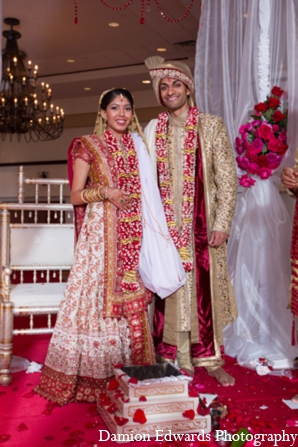 Indian wedding ceremony traditional bride groom in Long Island, New York Indian Wedding by Damion Edwards Photo
