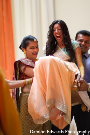 Indian wedding gaye holud turmeric in Long Island, New York Indian Wedding by Damion Edwards Photo