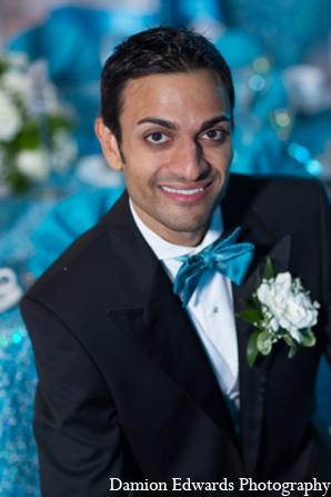 Indian wedding groom portrait in Long Island, New York Indian Wedding by Damion Edwards Photo