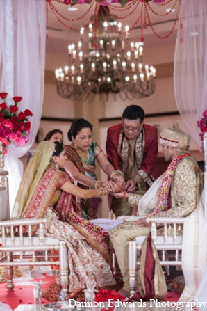 Indian wedding mandap traditions in Long Island, New York Indian Wedding by Damion Edwards Photo