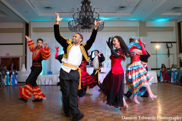 Indian wedding reception bollywood dance in Long Island, New York Indian Wedding by Damion Edwards Photo