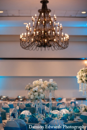 Indian wedding reception design decor lighting in Long Island, New York Indian Wedding by Damion Edwards Photo