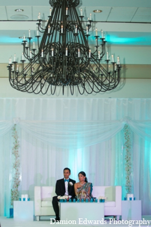 Indian wedding reception design lighting in Long Island, New York Indian Wedding by Damion Edwards Photo