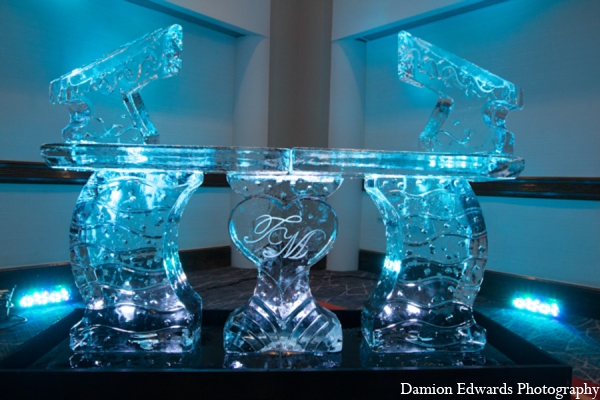 Indian wedding reception ice sculpture in Long Island, New York Indian Wedding by Damion Edwards Photo