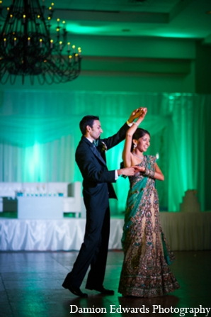 Indian wedding reception outfits in Long Island, New York Indian Wedding by Damion Edwards Photo