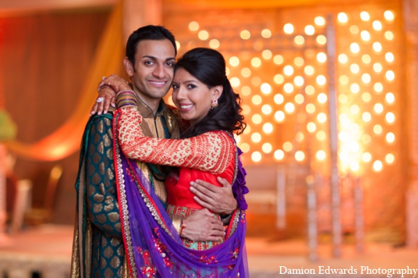 purple,orange,hot pink,green,bridal fashions,Floral & Decor,Hair & Makeup,Lighting,portraits,indian bride and groom,indian bride groom,photos of brides and grooms,images of brides and grooms,indian bride grooms,indian wedding wear,Damion Edwards Photography