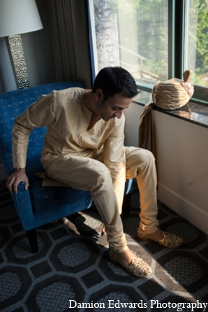 Indian wedding sherwani groom in Long Island, New York Indian Wedding by Damion Edwards Photo