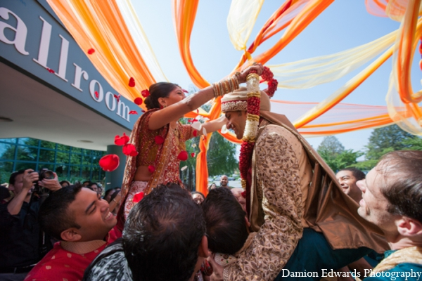 Indian wedding tradition baraat in Long Island, New York Indian Wedding by Damion Edwards Photo