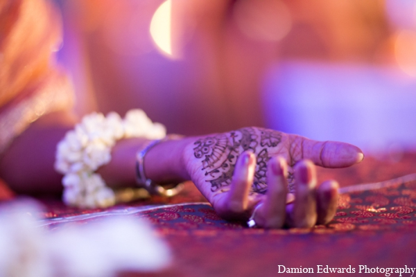 Indian wedding tradition bridal mehndi in Long Island, New York Indian Wedding by Damion Edwards Photo