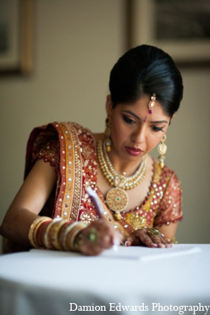 Indian wedding traditional bridal jewelry in Long Island, New York Indian Wedding by Damion Edwards Photo