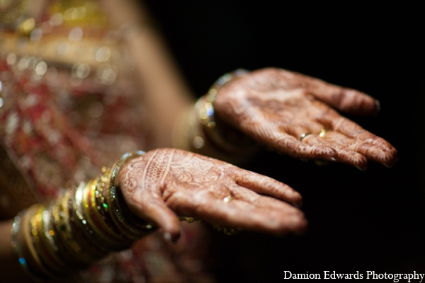 Indian wedding traditional bridal mehndi in Long Island, New York Indian Wedding by Damion Edwards Photo