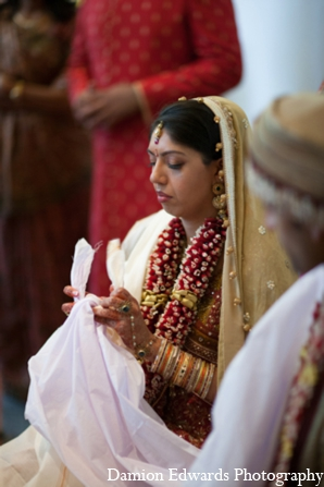Indian wedding traditional bride in Long Island, New York Indian Wedding by Damion Edwards Photo