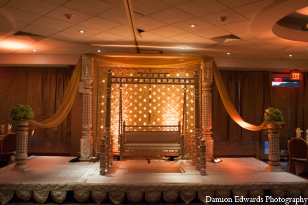 Indian wedding traditional sangeet decor in Long Island, New York Indian Wedding by Damion Edwards Photo