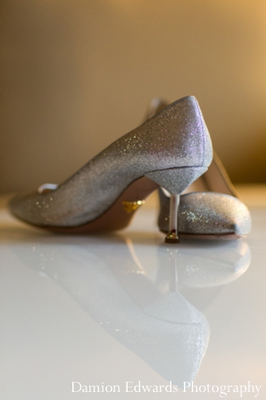 Indian wedding bridal shoes inspiration in Jersey City, New Jersey Indian Wedding by Damion Edwards Photography