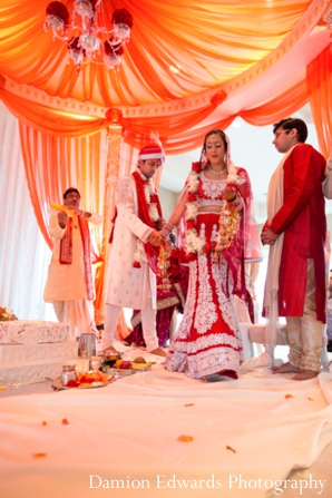 red,orange,indian wedding ceremony,indian wedding customs,wedding ceremony,traditional rituals and customs,traditional wedding ceremony,Damion Edwards Photography
