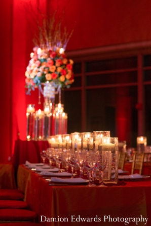 red,indian wedding reception,indian wedding decor,Damion Edwards Photography,roses,indian wedding inspiration,indian wedding florals,design and decor for wedding reception