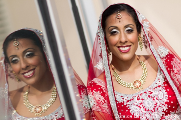 Indian wedding bride portrait traditional lengha in Jersey City, New Jersey Indian Wedding by Damion Edwards Photography