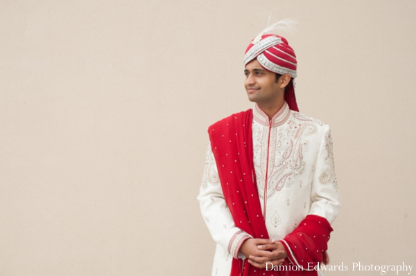 Indian wedding groom traditional sherwani in Jersey City, New Jersey Indian Wedding by Damion Edwards Photography