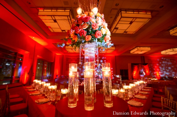 red,reception lighting,indian wedding reception,reception decor,Damion Edwards Photography,indian wedding reception seating,ideas for wedding reception decor and lighting
