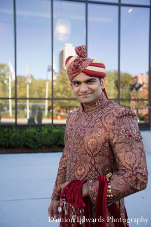 Indian wedding baraat groom sherwani in New Brunswick, NJ Indian Wedding by Damion Edwards Photography