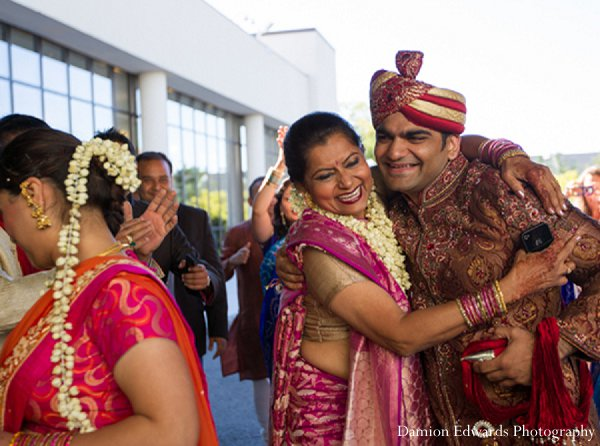 Indian wedding baraat guests groom in New Brunswick, NJ Indian Wedding by Damion Edwards Photography