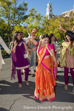 Indian wedding baraat photography sari in New Brunswick, NJ Indian Wedding by Damion Edwards Photography