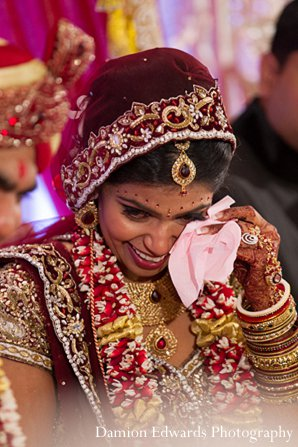 Indian wedding bride ceremony lengha in New Brunswick, NJ Indian Wedding by Damion Edwards Photography