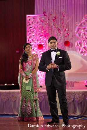 Indian wedding bride groom reception photography in New Brunswick, NJ Indian Wedding by Damion Edwards Photography
