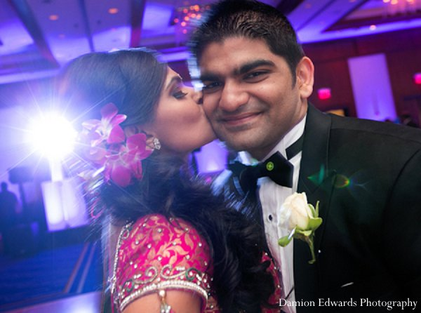 Indian wedding bride groom reception portrait in New Brunswick, NJ Indian Wedding by Damion Edwards Photography