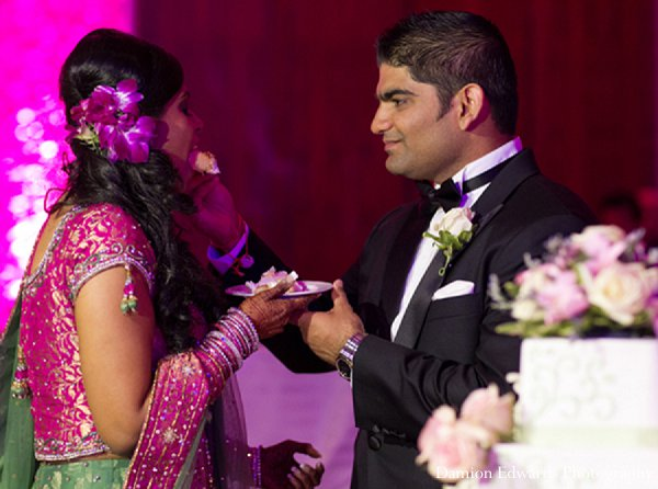 Indian wedding bride groom reception in New Brunswick, NJ Indian Wedding by Damion Edwards Photography