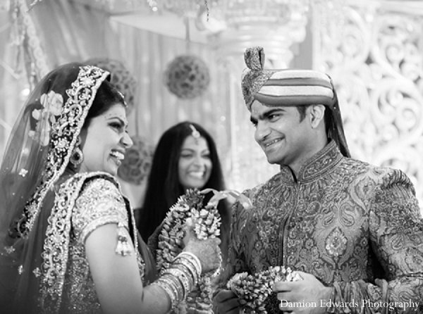 Indian wedding ceremony black white in New Brunswick, NJ Indian Wedding by Damion Edwards Photography