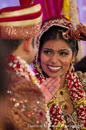 Indian wedding ceremony bride groom lengha in New Brunswick, NJ Indian Wedding by Damion Edwards Photography